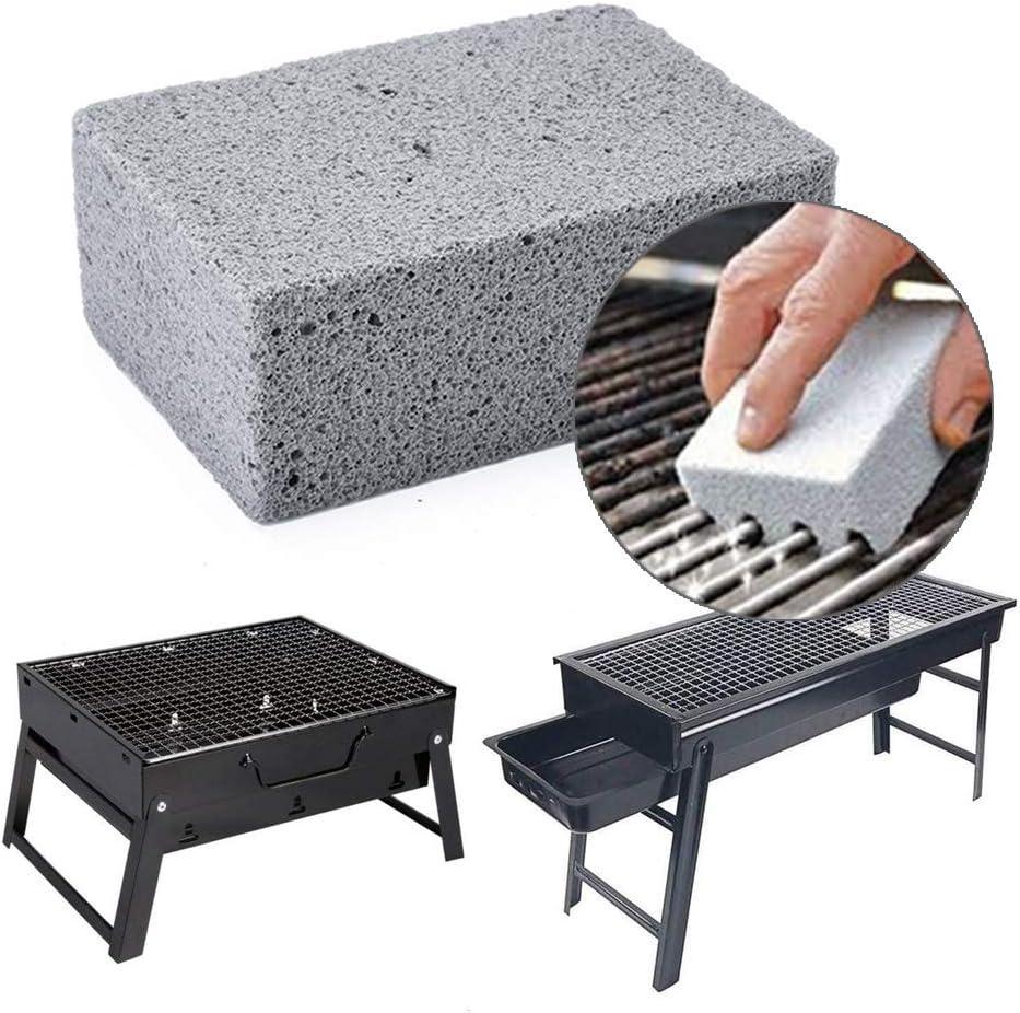 Piedra m/ágica y Piedra p/ómez cocinas de Superficie Plana Accesorios para barbacoas Paquete de 4 Rejillas limpiadoras para Parrilla SUGERYY estantes 4 Pcs Parrillas ladrillo