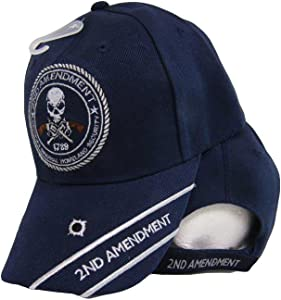 K's Novelties 2nd Amendment Original Homeland Security 1789 Skull Blue Embroidered Cap Hat