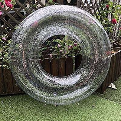 Sweet Troublemaker Sequin Swimming Ring (Silver, 90): Toys & Games