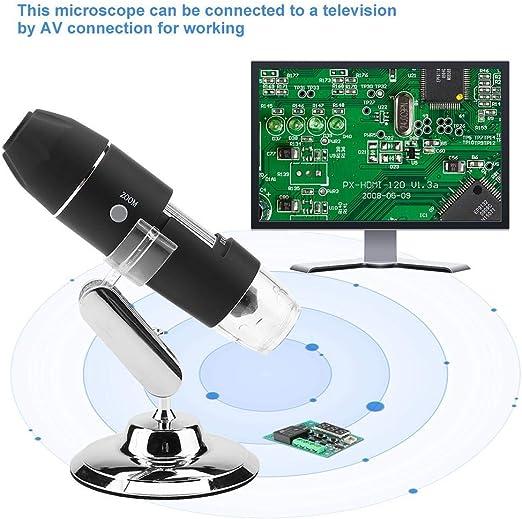 Ispezione di Gioielli USB 2.0 Ricaricabile Supporto in Metallo Microscopio Wireless Portatile HD 2MP Microscopio Digitale WiFi 1080P da 0X A 1600X 8 LED Ispezione Tessile