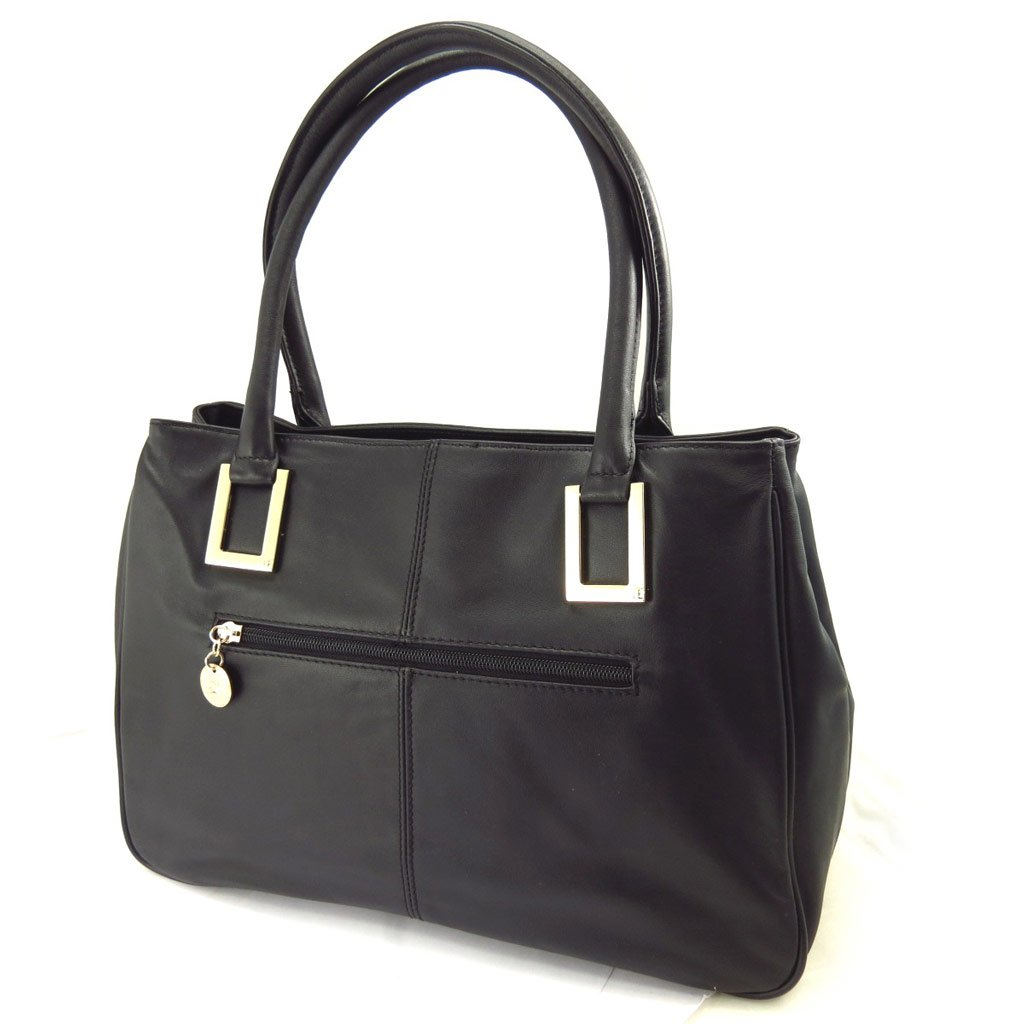 Leather bag Jacques Esterel black.
