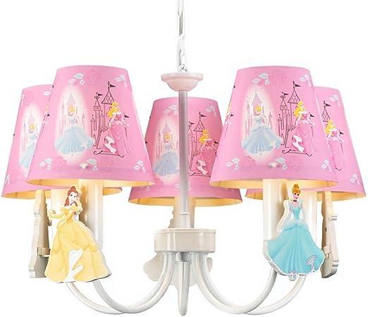 Cartoon Princess Room Pink Chandelier Cute Girls Room Pendant Lamp Child Bedroom Pendant Light Amazon Co Uk Lighting