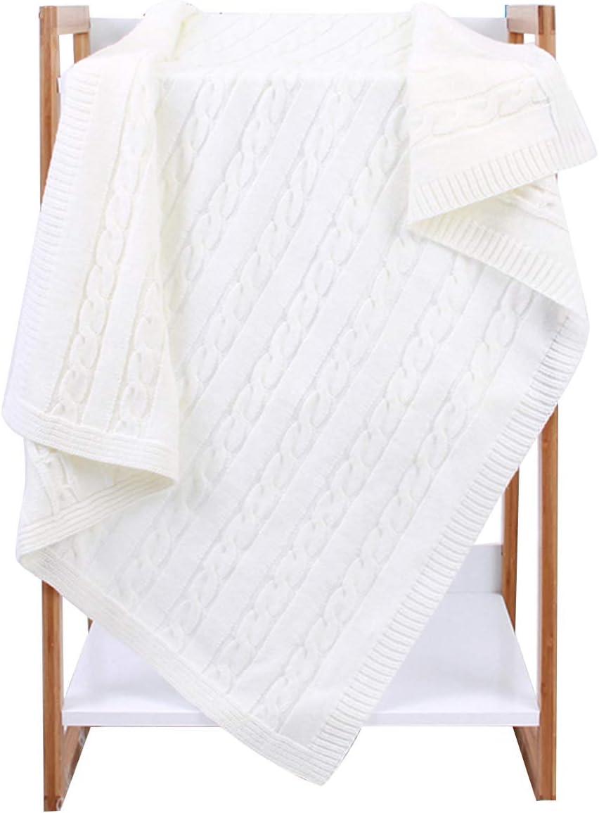 couverture pour b/éb/é nouveau-n/é super doux pour b/éb/é Yinuoday Couverture pour b/éb/é en tricot pour enfant en bas /âge pour gar/çons et filles taille 40 x 32 pouces