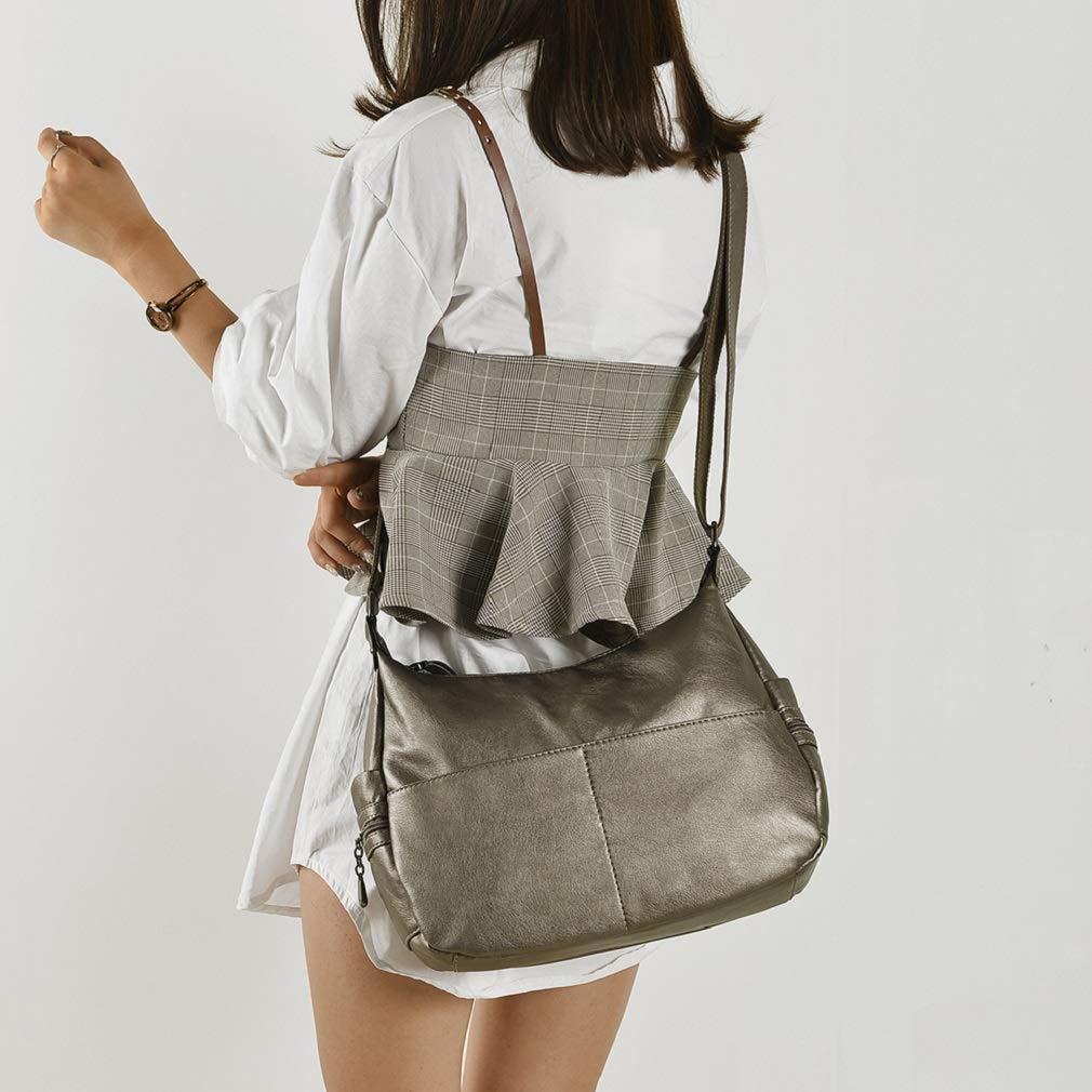 Alovhad Fashion Shoulder Tote Bags Handbag Messenger Hobo Cross Body Bags Purse Soft PU Leather Top Handle Bags for Women (Bronze-Big) by Alovhad (Image #2)