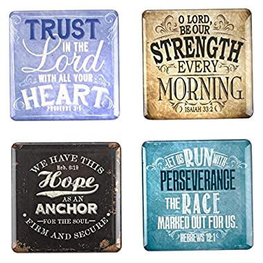 Vintage Graphics Inspirational Fridge Magnet Set (4)