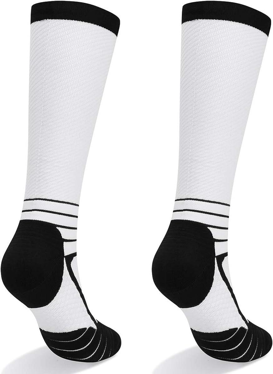 Athletic Sports YUEDGE Non-slip Compression Socks for Women /& Men Best Running Flight Travel 15-22 mmHg, 2 Pairs