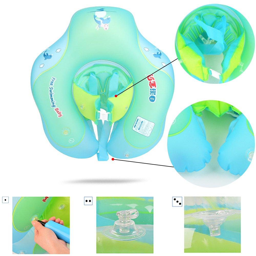 VSTON Anillo de Flotador de bebé Recién Nacido Baño Anillos Seguridad Seguridad Ayuda Flotador Nadar Inflable Flotador Anillo, 6-30 Meses: Amazon.es: ...