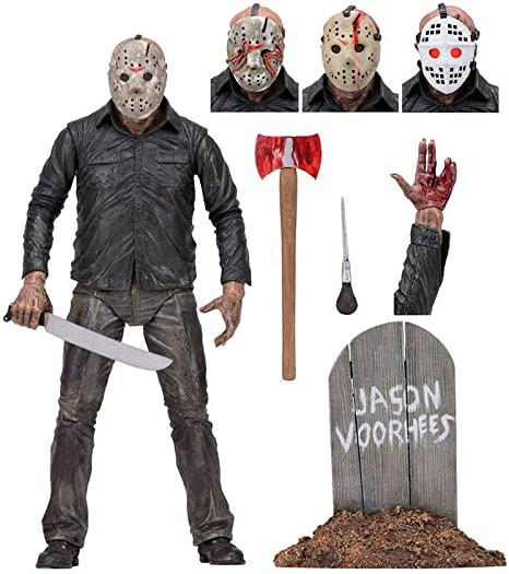 """NECA Friday the 13th Part 4 IV Final Chapter JASON VOORHEES 7/"""" Ultimate Figure"""