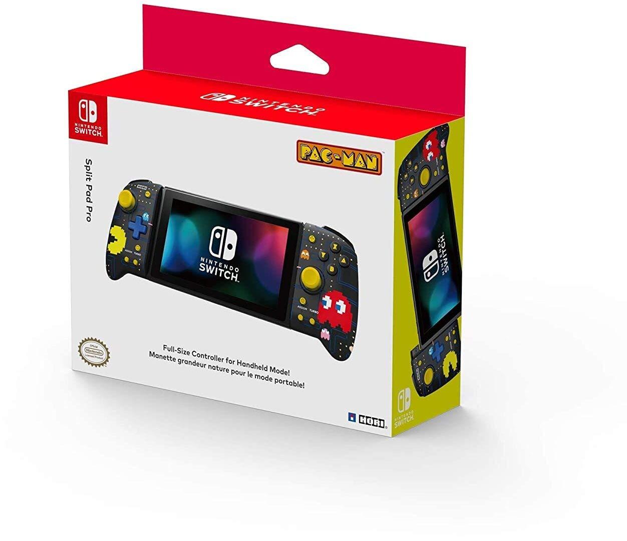 Hori Nintendo Switch Split Pad Pro (Pac-Man) Ergonomic Controller for Handheld Mode - Officially Licensed By Nintendo and Namco - Nintendo Switch