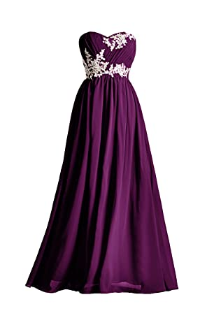 Prom Dresses Lace Special Occasion Gown Formal Dresses For Women Long Bridesmaid Dress, Color Grape