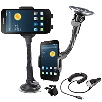 Giro de 360 ° Soporte de coche 360 Alcatel One Touch Pop 2 ...
