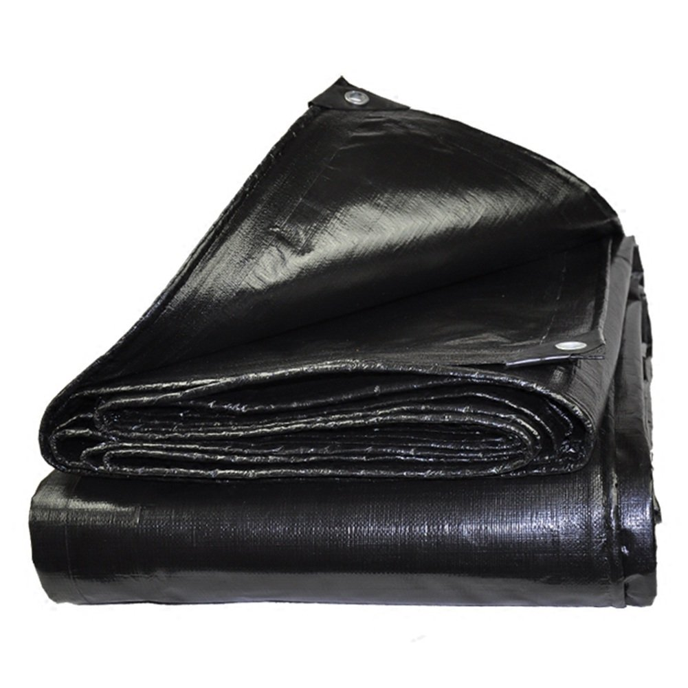 Dongyd Regendichte Plane Plane Plane Plane Ground Sheet Covers Zelt Shelter verdicken Heavy Duty verstärkt Outdoor Schwarz (größe   2x4m) B07NY5XDDK Zeltplanen Bevorzugtes Material 853a1d