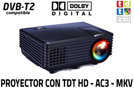 Proyector de Alta definicion FULLHD, Android, WiFi, TV TDT, AC3, LED