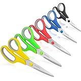 """Scissors, Taotree 8"""" Multipurpose Scissor Bulk Pack of 5, Stainless Steel Sharp Scissors for Office Home General Use, High/Mi"""
