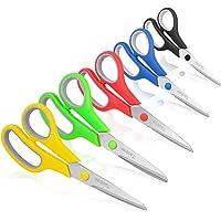 """Scissors, Taotree 8"""" Multipurpose Scissor Bulk Pack of 5, Stainless Steel Sharp Scissors for Office Home General Use…"""