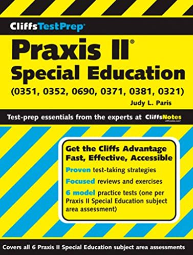 cliffstestprep praxis ii special education 0351 0352 0690 0371 rh amazon com praxis ii special education preschool early childhood study guide Special Education Information Sheet