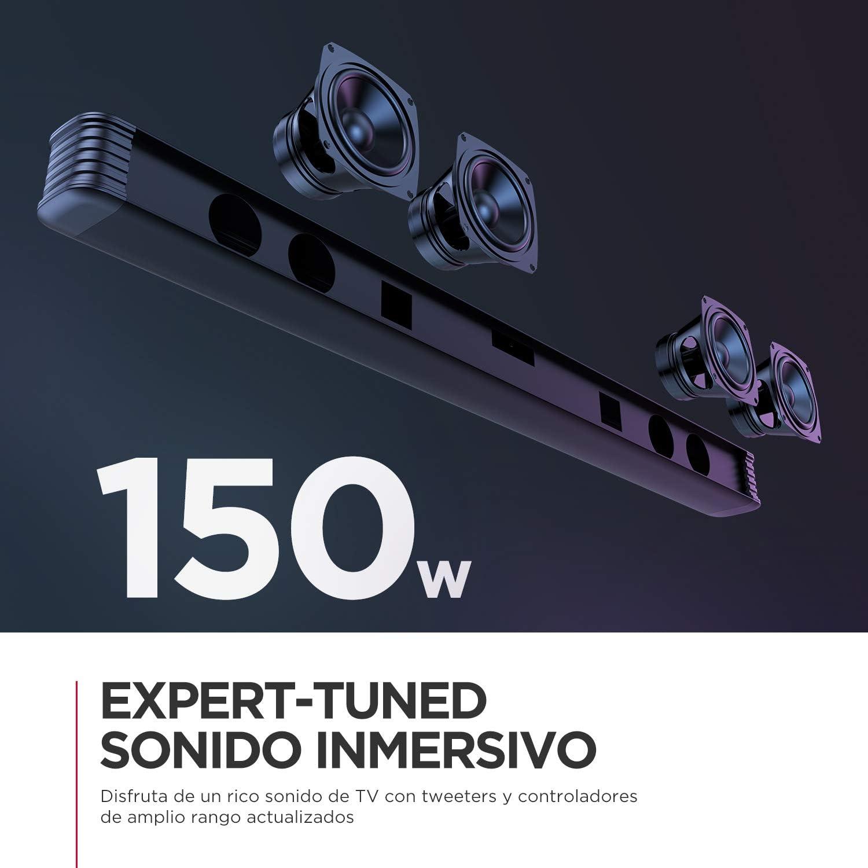 Barra de Sonido con Subwoofer Inalámbrico 2.1 Canales para TV, BOMAKER 150W, 125 dB, de Tamaño Extra, Soporta Conexiones Óptico/RCA/Coaxiales/Bluetooth, para Cine en Casa, Njord I [2020 Actualizado]: Amazon.es: Electrónica