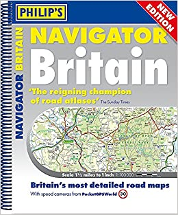 Philips 2018 Navigator Britain SpiralBound Philips Road Atlas
