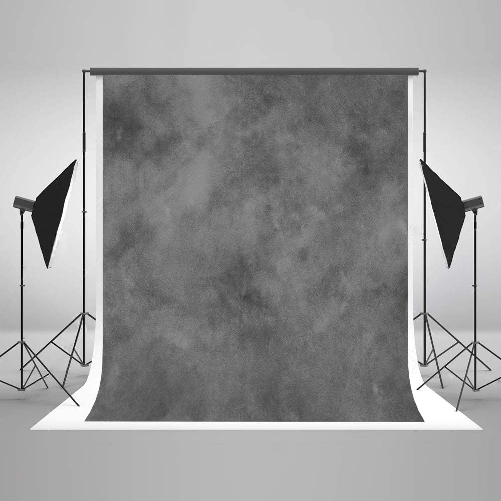 Kate 5ft(W) x7ft(H) Texture Portrait Photography Backdrops for Photographers Microfiber Black Abstract Old Master Photo Backdrop Professional Head Shots