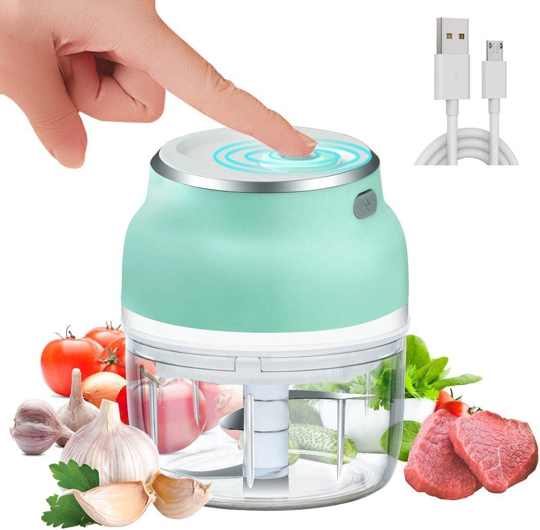 MIGECON Electric Garlic Chopper Mini Food Chopper with USB,Portable Small Food Processor for Garlic/Chili/Ginger/Onion.(150ml)