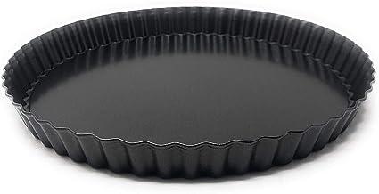yIFeNG Fluted Pie Crostata Stampo Stampo Fondo Rimovibile Antiaderente Strumento Quiche Rettangolo