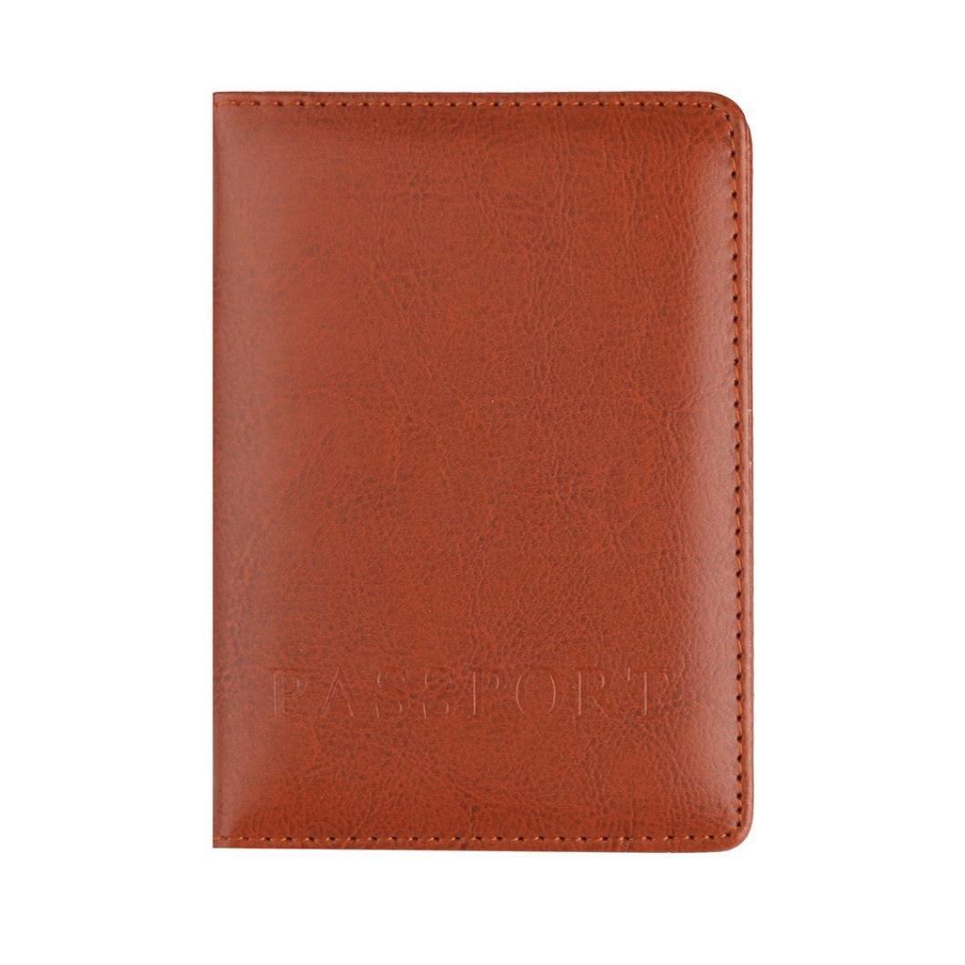Passhü lle Protector Wallet Visitenkarte weichen Passdecke (Black)