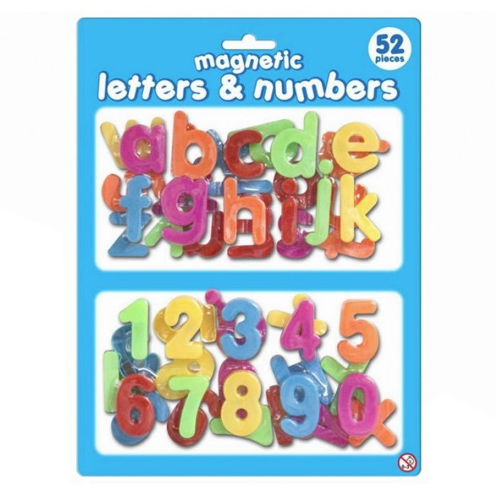 KandyToys Magnetic 52 Piece Plastic Letters and Numbers
