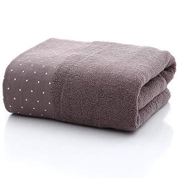 Toalla de baño, algodón Lunares Color Liso Jacquard Archivo Roto Toalla de Toalla 4 Colores Puede Elegir,D: Amazon.es: Hogar