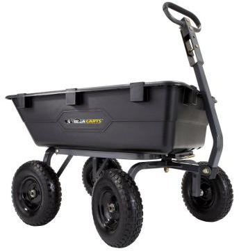Gorilla Carts 1,200 lb. Heavy Duty Poly Dump Cart-GOR6PS - The Home Depot
