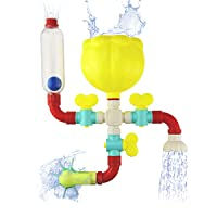 VIPAMZ Tub Toys Building Pipes Bath Wall Toy for 1 2 3 Year Old Kids Toddlers Babies...