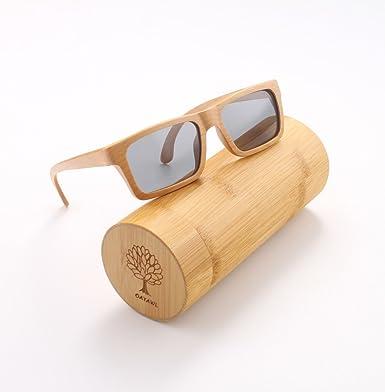 Gafas de sol oayawl madera hombres mujeres gafas de sol polarizadas gafas de sol retro madera