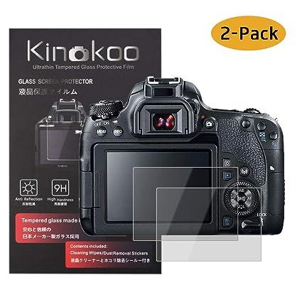 kinokoo Película de Vidrio Templado para Canon EOS 90D/70D/77D/80D ...