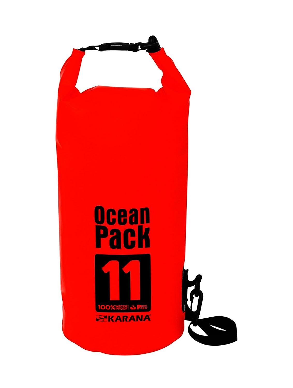 Karana Ocean Pack防水ドライバッグ11リットル( 112142711、レッドカラー1個。   B01F2BZFPG