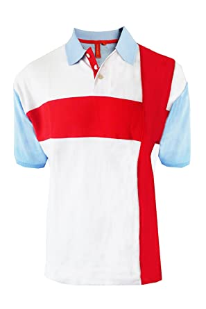 71232c31 Adults Light Blue Polo Shirt England Flag St Georges Football Cross Vintage  Retro Tee Top: Amazon.co.uk: Clothing