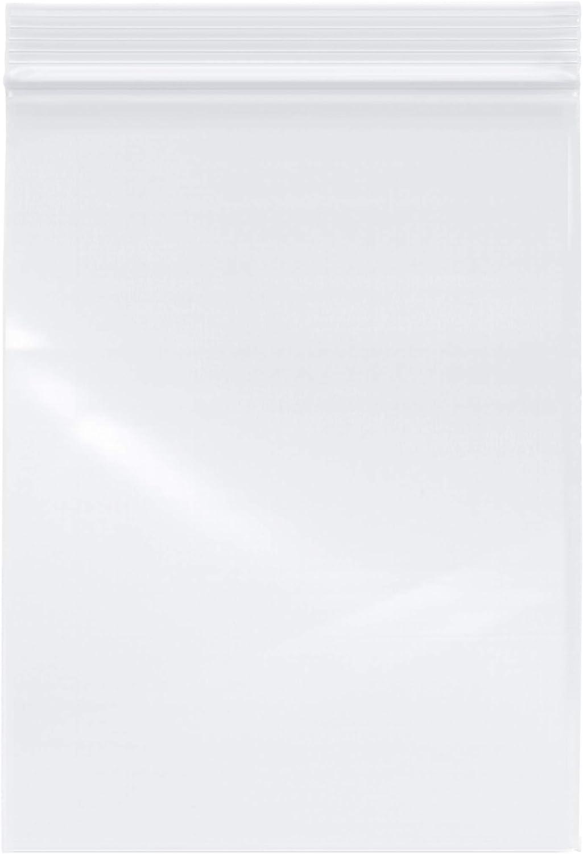 "Plymor Zipper Reclosable Plastic Bags, 2 Mil, 6"" x 8"" (Pack of 500)"