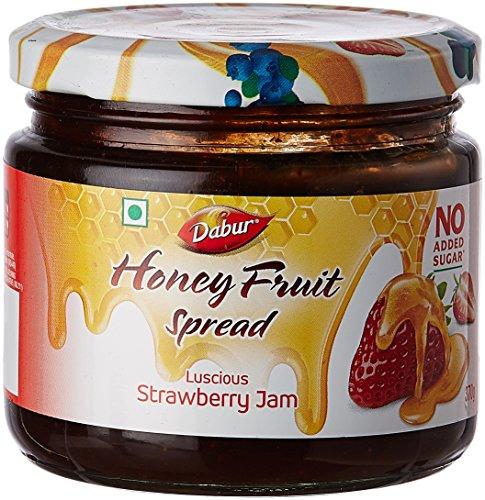 Dabur Honey Fruit Spreads, Strawberry, 370g