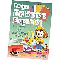 Bloco Para Educacao Artistica Especial A-4 8cores 40f.6og - Pacote com 01 Unidade V.M.P., Multicor