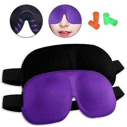 Antifaz para Dormir,2 Unidades de Máscara de Ojos 3D,Máscara para Dormir para