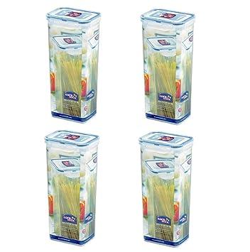 (Pack Of 4) LOCK U0026 LOCK Airtight Rectangular Tall Food Storage Container,  Pasta