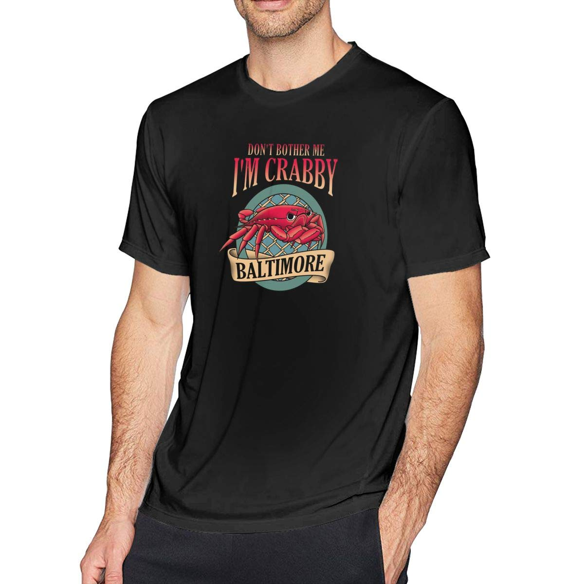 Dont Bother Me Im Crabby Mens Casual Slim Fit Short Sleeve T-Shirt 100/% Cotton Tee Tops