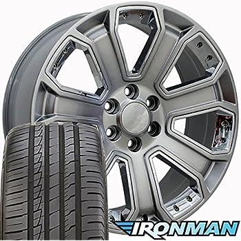 22 Rim Fits 1999-2018 Cadillac Escalade CA87 Hyper Silver 22x9 Aluminum Wheel