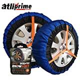 atliprime fabric snow chain textile tire chains auto snow sock for SUV/4X4/Light truck (KD446)