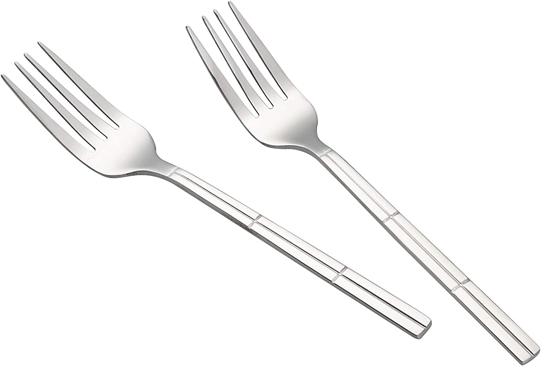 Hokky 12 Pieces Dessert Fork Set Stainless Steel Small Fork