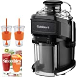 Cuisinart CJE-500 Compact Juice Extractor with Bundle Includes, Pat Crocker The Smoothies Bible (Paperback) & 2x Copco Eco First Tumbler 24 Ounce Togo Cup Mug - Orange