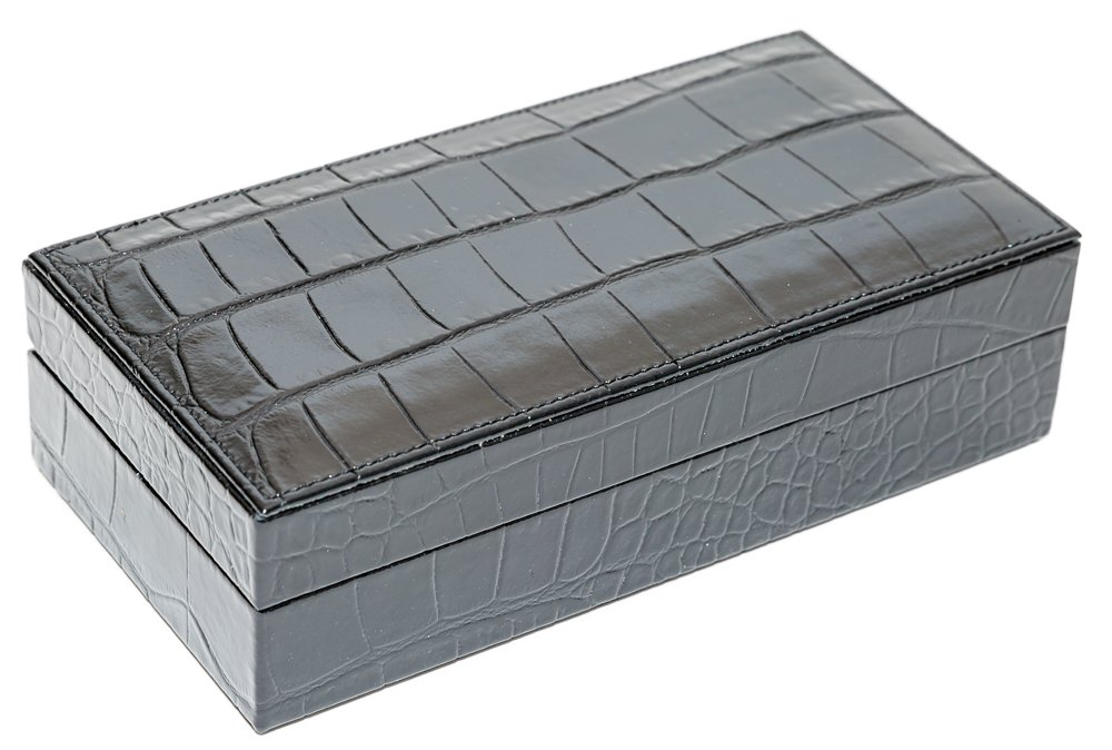 Bello Games Collezioni - Piazza Maggiore Card Set in a Genuine leather Croco Case from Italy by Bello Games New York, Inc.
