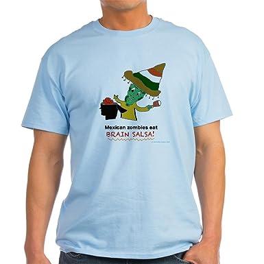5f2e23e25 Amazon.com: CafePress Mexican Zombies Eat Brain Salsa Cotton T-Shirt:  Clothing