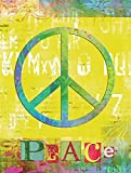 Caroline's Treasures SB3101CHF Artsy Peace Flag Canvas, Large, Multicolor