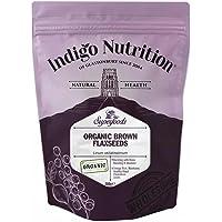 Indigo Herbs Semillas de Linaza/Lino Marrón Orgánicas 500g