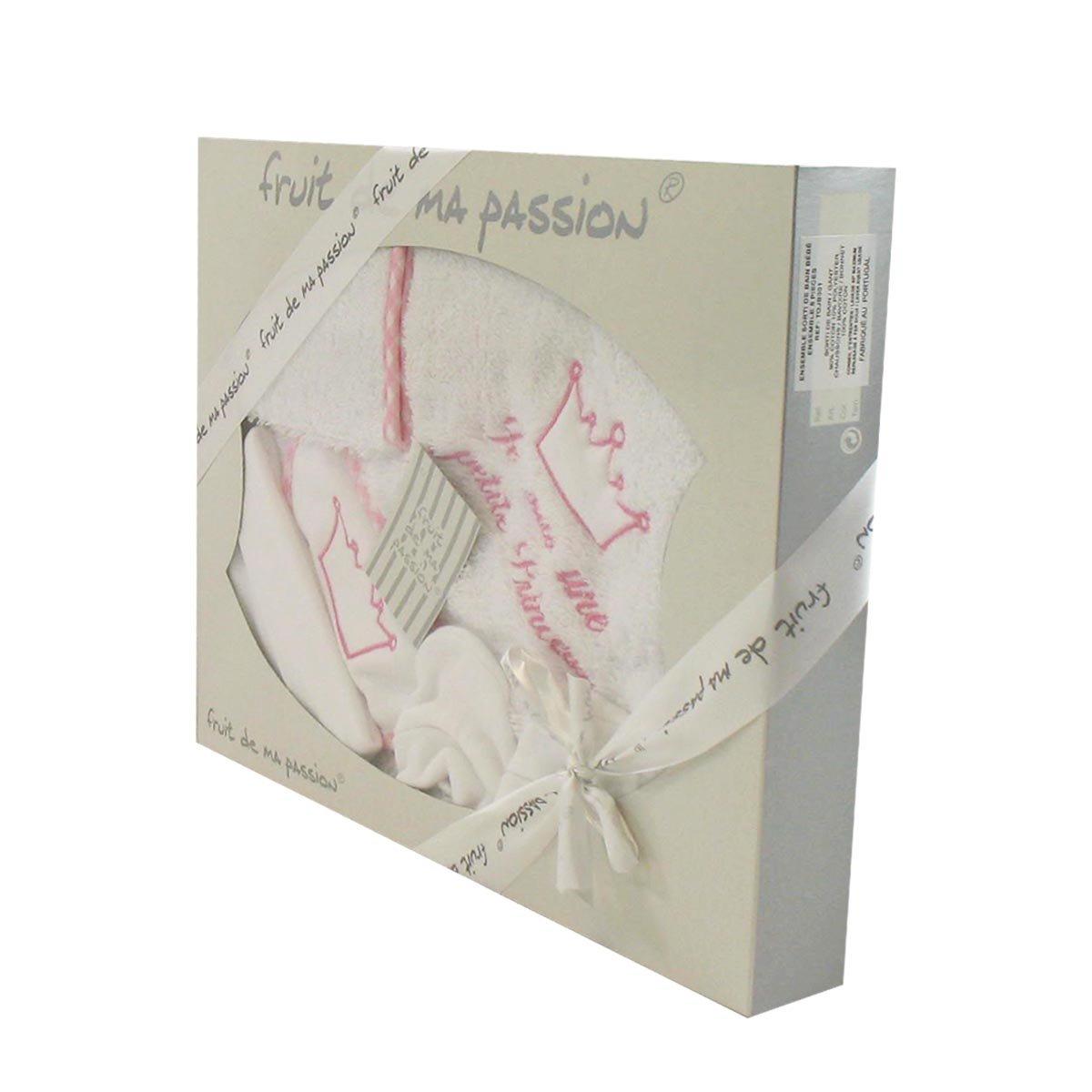 Caja de bata blanca y rosa - Soy pequeña princesa Fruit de ma Passion