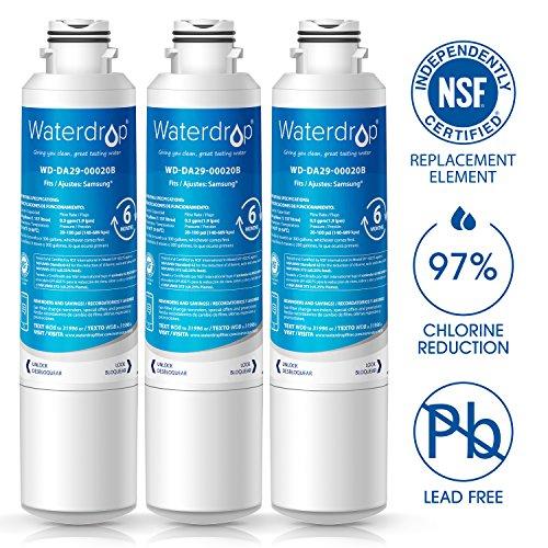 : Waterdrop DA29-00020B Refrigerator Water Filter Replacement for Samsung DA29-00020B, DA29-00020A, HAF-CIN/EXP, 46-9101 (3 Pack)